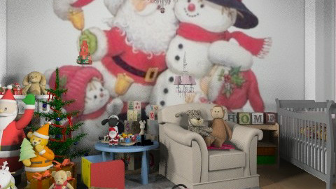 Christmas at the nursery. - Country - Kids room  - by Your well wisher