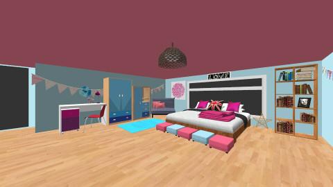 My room - Retro - Bedroom  - by Kianna22