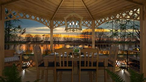 Design 414 Quiet Lakeside Dinner - Garden  - by Daisy320