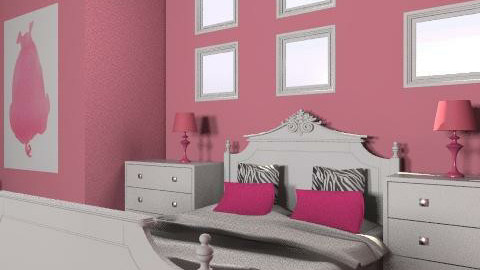 girl´s room - Glamour - Bedroom  - by putulinka