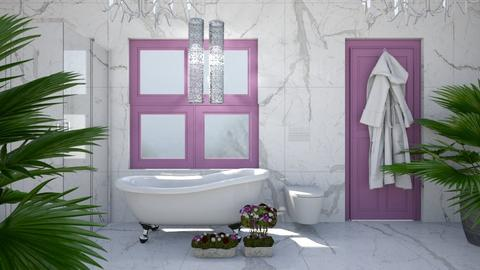 Purple Grey and White - Modern - Bathroom  - by millerfam