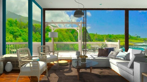 Beach Villa Decor  - Rustic - Living room  - by sahfs
