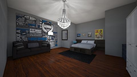 master bedroom - Retro - Bedroom  - by samgentry2004