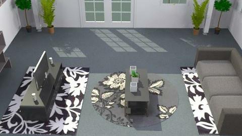 Black & White Room - Modern - Living room - by wajiyh78
