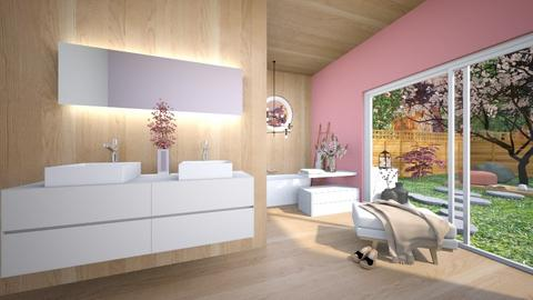Cherry Blossom Bathroom - Bathroom  - by Victoria_happy2021