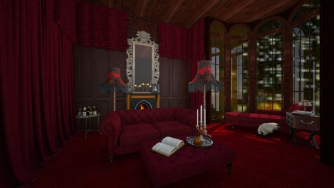 Hotel suite - Vintage - Living room  - by amandafern
