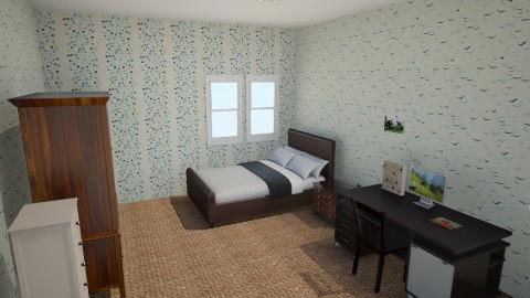 kamar adik - Country - Bedroom  - by pleretian