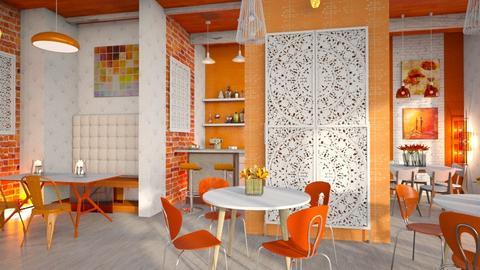 orange_white restanaut - Kitchen  - by Moonpearl
