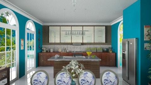 Dark Kitchen - Modern - Kitchen  - by giulygi