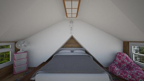 Cabin Loft - Bedroom  - by SammyJPili