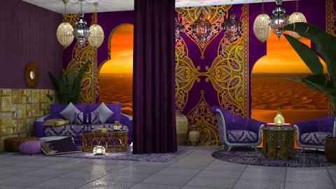Moroccan_Purple - Living room  - by Feeny