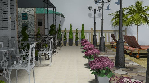 The promenade 1 - Garden  - by Lisa R