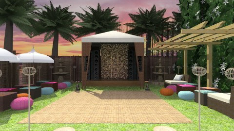 sunset luau party - Rustic - Garden  - by wagner herbst padilha