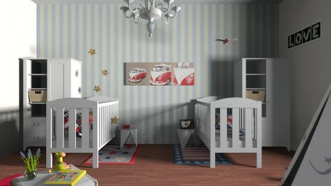 Fancy twins room - Rustic - Kids room  - by Misslittledeer