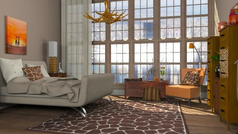 A touch of Africa in the city - Modern - Bedroom  - by alleypea