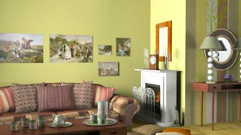 Home - Retro - Living room  - by Laurika