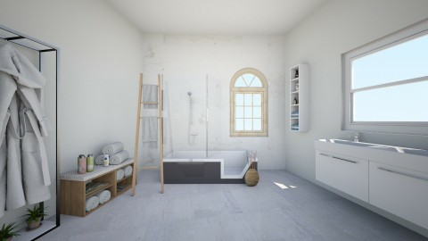 plain white - Bathroom - by Aliisha Asuao