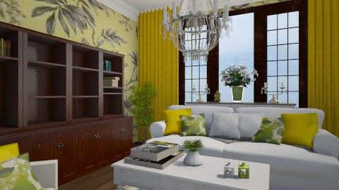 AMARELO - Living room - by Elisa Gate