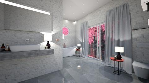 Cherry Blossom Bathroom - Bathroom  - by TropicalWeed