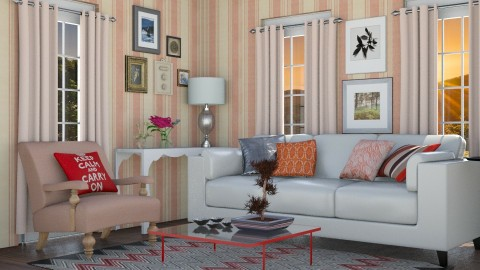 Keep calm - Vintage - Living room  - by Liu Kovac