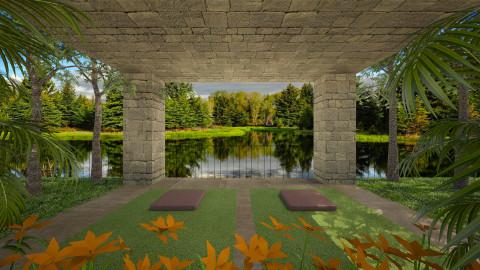 ZenYogaStudio001 - Garden  - by Ivana J