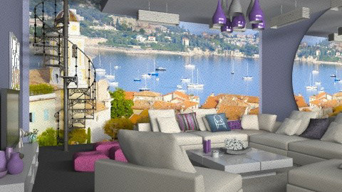 saint-tropez 1 - Classic - Living room  - by calu13