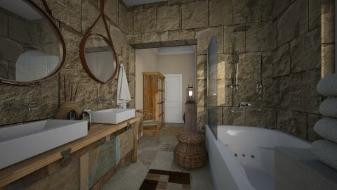 Casa - Rustic - Bathroom  - by gianbarbieri