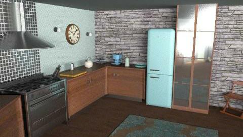 TiffanyBlue Kitchen1 - Eclectic - Kitchen  - by camilla_saurus