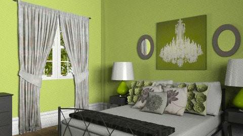Green Bedroom - Feminine - Bedroom - by elliefant