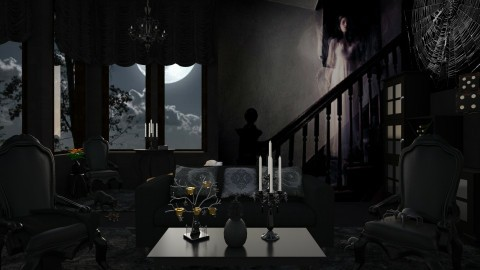 Design 217 Haunted House - Living room  - by Daisy320