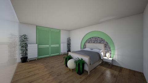 Green House Teens Room - Bedroom - by Ellzbee