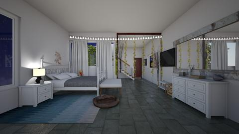 Contest_The down bed room - Modern - Bedroom  - by Babybluewolfboo