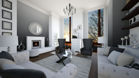 ombre living - Living room  - by Senia N