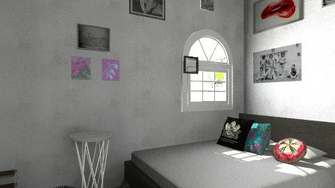 Random Room  - Retro - Bedroom  - by Abbey Dum