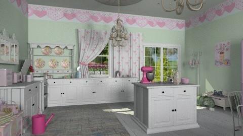 pink shabby chic - Vintage - Kitchen - by auntiehelen