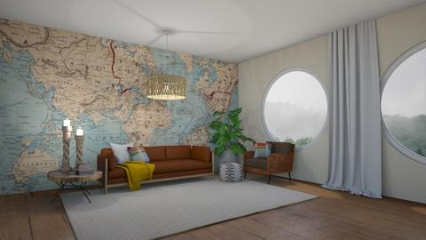 Travel Theme Living Room  - Living room  - by LiveItUp
