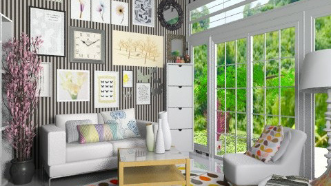 frame room 1 - Rustic - Living room  - by miss pink