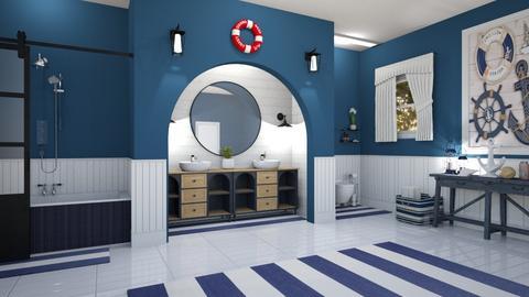 nautical bathroom - by milica tanurdzic