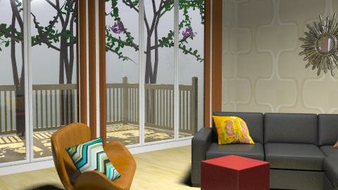 modern retro - Retro - Living room  - by lamin_agatha