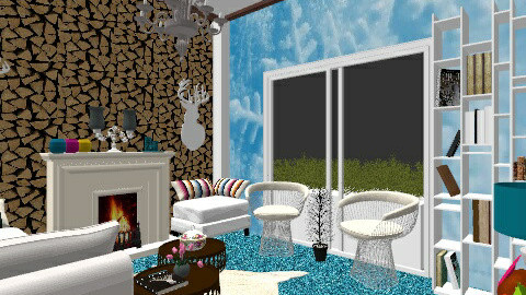winter living room 3 - Rustic - Living room  - by nag26