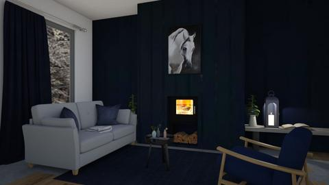 navy and grey - Living room  - by madaline
