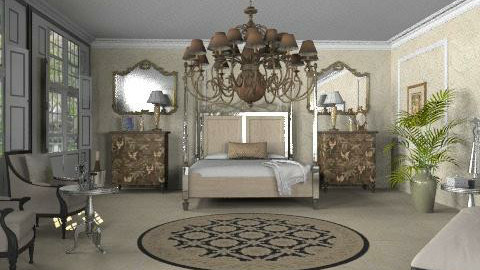 french bedroom - Glamour - Bedroom  - by auntiehelen