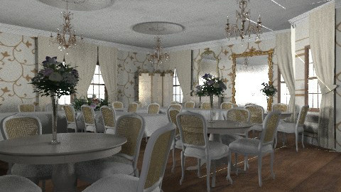 castle project _function room - Glamour - Dining room  - by auntiehelen