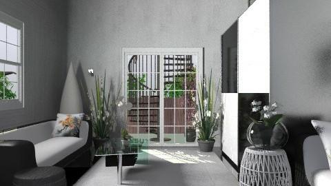 Modern Black&White - Modern - Living room - by deepthinker