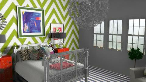 Chevron - Eclectic - Bedroom - by hunny