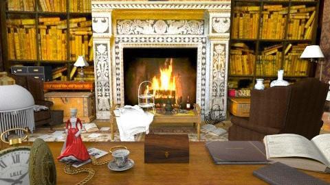Sherlock Holmes Room - Office  - by MilaMao