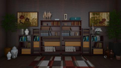 All Those Books - Masculine - Office  - by Irishrose58