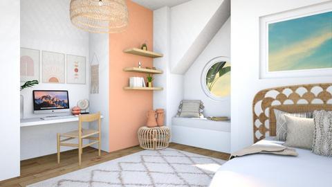 Beachy Loft - Bedroom  - by aestheticXdesigns