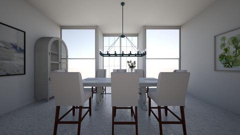 Modern Greek Dining - Modern - Dining room  - by Charginghawks