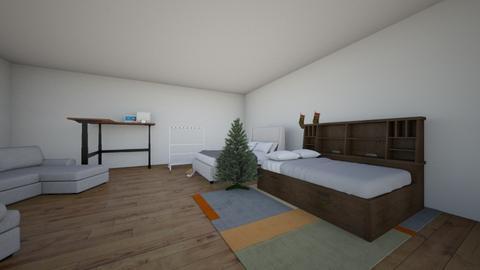 bedroom for tech class - Bedroom  - by Rxsefieldddd